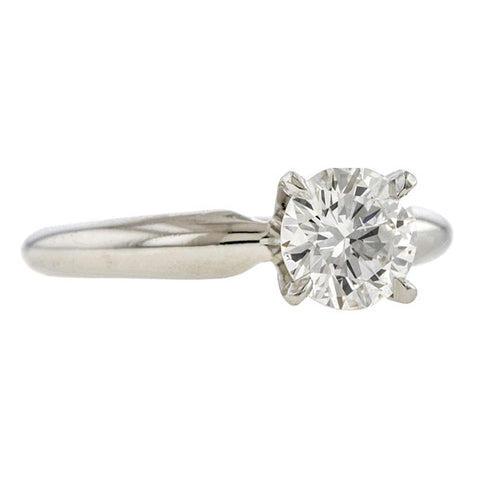 Vintage Engagement Ring, RBC 0.92ct.