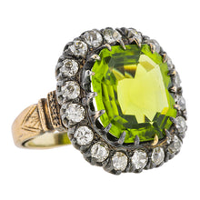 Antique Peridot & Diamond Ring