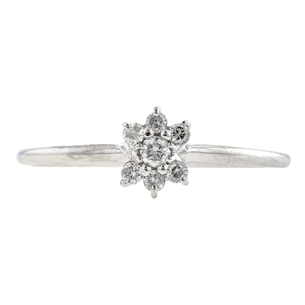Estate Diamond Cluster Ring