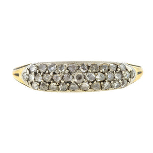 Antique Rose Cut Diamond Band Ring