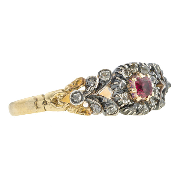Georgian Ruby & Diamond Ring