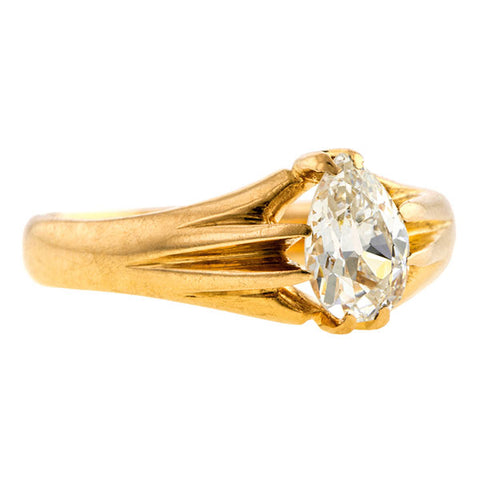 Victorian Solitaire Engagement Ring, Pear Shape 0.60ct