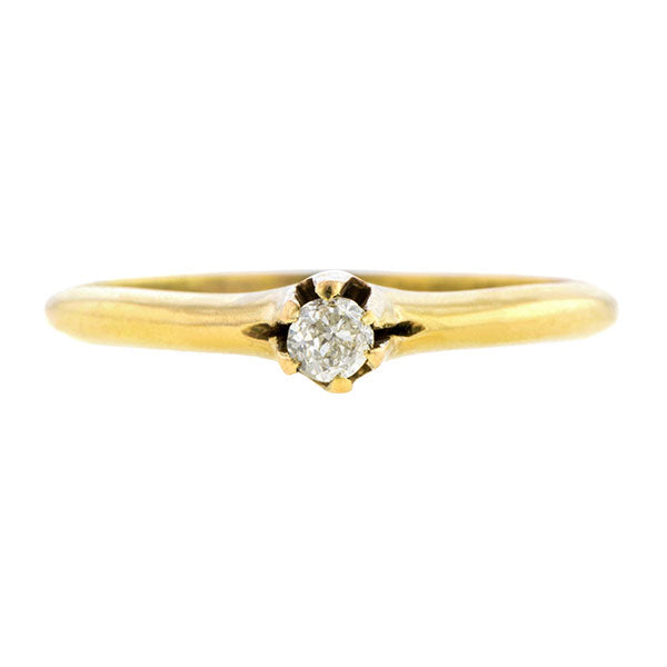 Antique Solitaire Engagement Ring, Old Mine 0.12ct