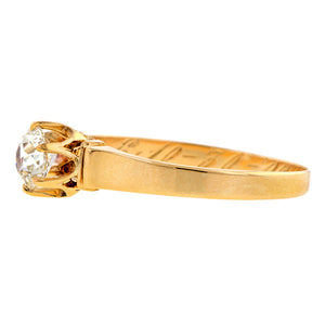Edwardian Solitaire Engagement Ring, Old Mine cut 0.48ct