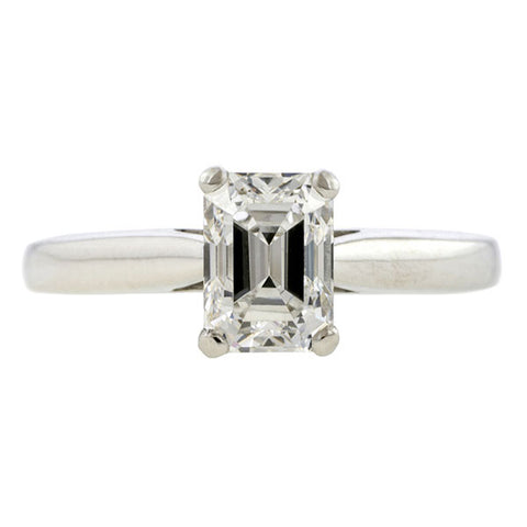 Vintage Tiffany & Co. Solitaire Engagement Ring, Emerald cut 1.16ct