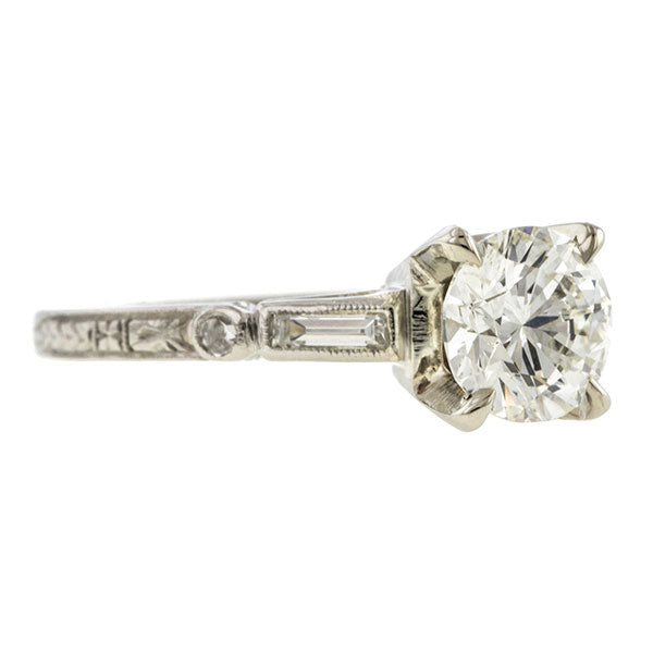 Vintage Engagement Ring, RBC 1.01ct