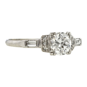 Art Deco Engagement Ring, TRB 0.78ct