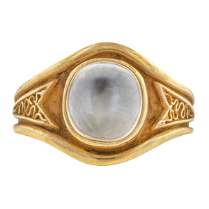 Art & Crafts Moonstone Ring