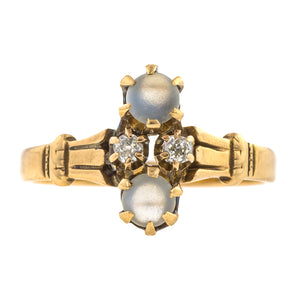 Victorian Moonstone & Diamond Ring