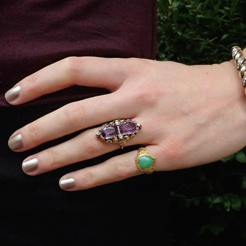Amethyst and diamond ring from Doyle & Doyle