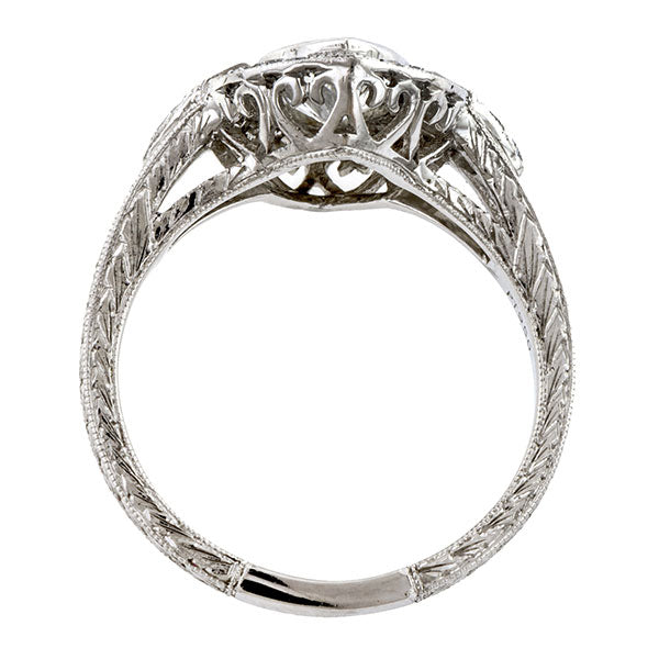 Art Deco Style Engagement Ring, MQ 0.92ct