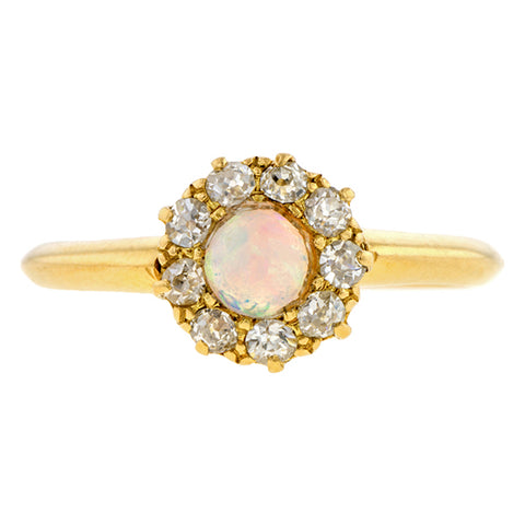 Antique Opal & Diamond Ring