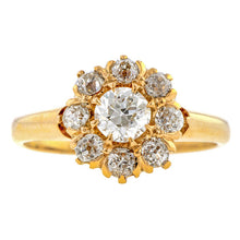 Victorian Diamond Cluster Ring. 0.27ct