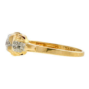 Vintage Diamond Ring, RBC 0.09ct.