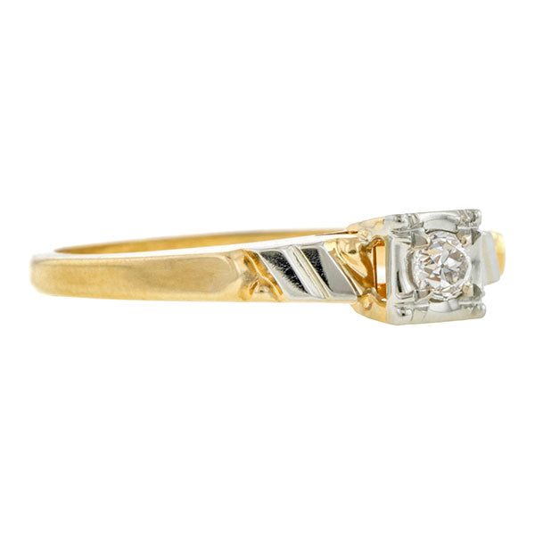 Vintage Diamond Ring, RBC 0.10ct