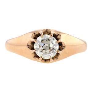 Antique Engagement Ring, Circular cut 0.64ct