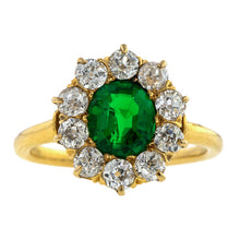 Antique Emerald & Diamond Ring