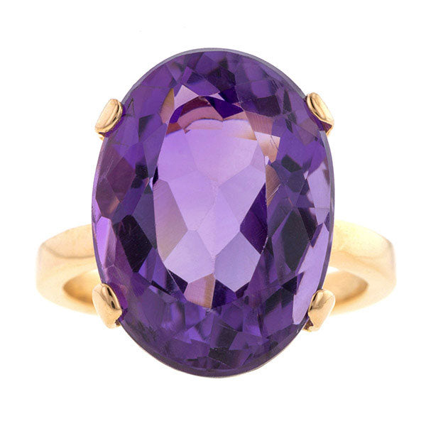 Vintage Amethyst Ring, 11cts