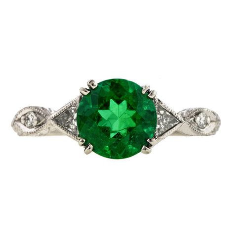 Emerald & Diamond Ring from Doyle & Doyle