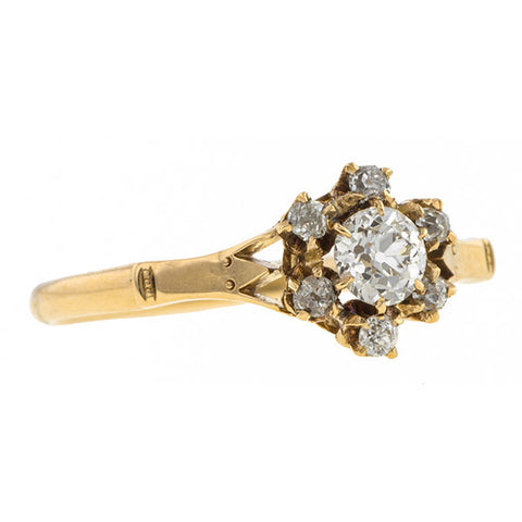 Antique Engagement Ring, Old Mine 0.30ct