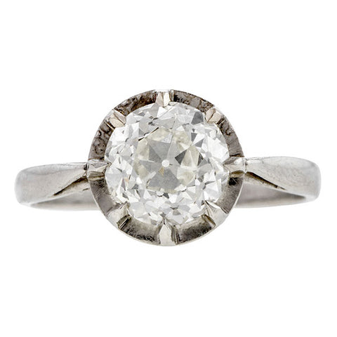 Antique Engagement Ring, Old Euro 1.53ct
