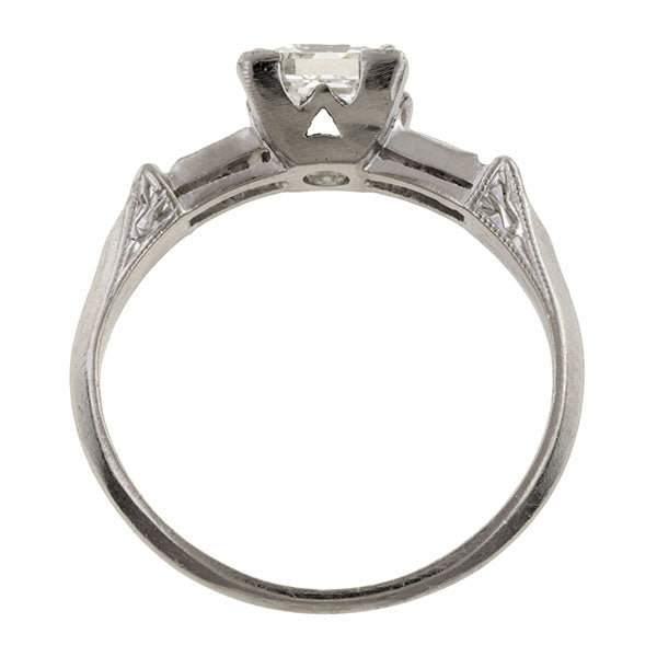Vintage Engagement Ring, Asscher 1.04ct