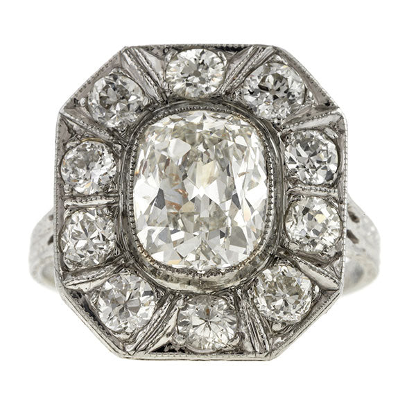 Vintage Engagement Ring, Cushion 2.06ct