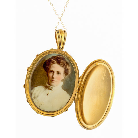Victorian Locket Pendant Necklace