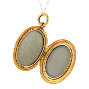 Victorian Oval Locket Pendant Necklace