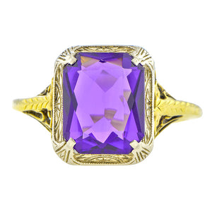 Art Deco Amethyst Ring