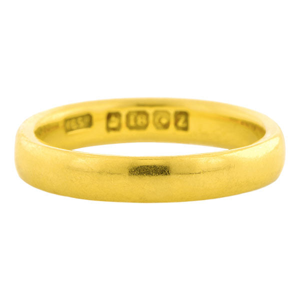Art Deco Yellow Gold Wedding Band Ring sold by Doyle & Doyle vintage and antique jewelry boutique.