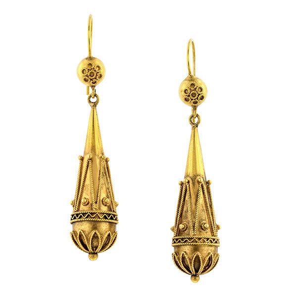 Vintage Etruscan Revival Style Earrings