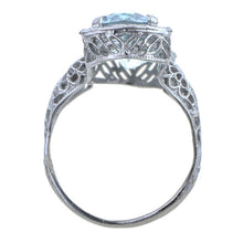 Vintage Aquamarine Filigree Ring