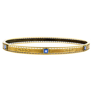 Antique Sapphire Bangle Bracelet