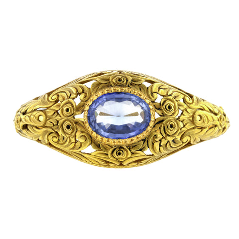 Antique Synthetic Sapphire Bangle Bracelet