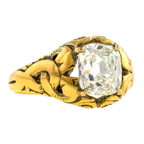 Antique Engagement Ring, Cushion 2.05ct