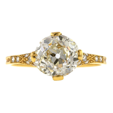 Estate Engagement Ring, Old Euro 2.06ct