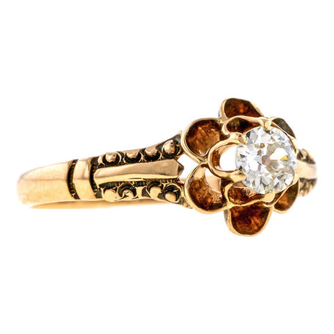 Victorian Engagement Ring, Old Euro 0.30ct