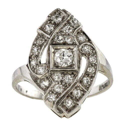 Vintage Diamond Dinner Ring