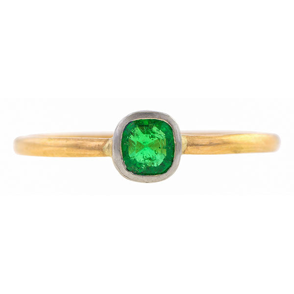 Emerald Solitaire Ring, 0.26ct.