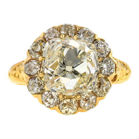 Antique Engagement Ring, Old Mine Cut 4.20ct