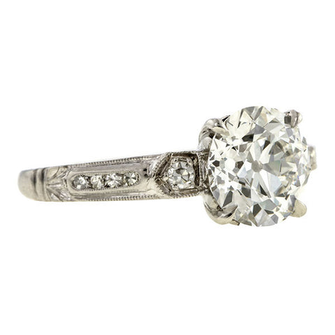 Antique Engagement Ring, Old European cut diamond 1.81ct