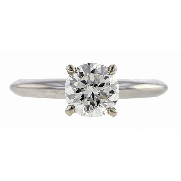 Vintage Solitaire Diamond Engagement Ring, RBC 1.06ct.