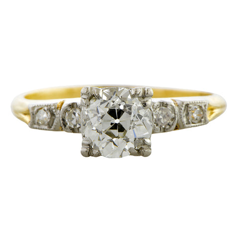 Vintage Engagement Ring, Old European 1.00ct.