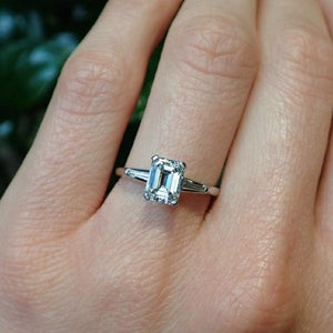 Vintage Engagement Ring, Emerald 1.22ct. from Doyle & Doyle 107243R