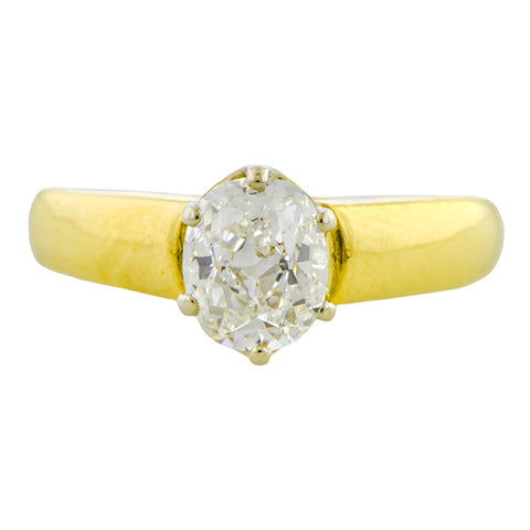 Vintage Engagement Ring, Oval 1.09ct.