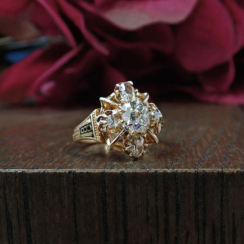 Victorian Engagement Ring, Cushion cut 1.27ct. from Doyle & Doyle 107245R