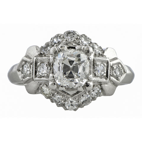 Vintage Engagement Ring, Old Mine 0.87ct.