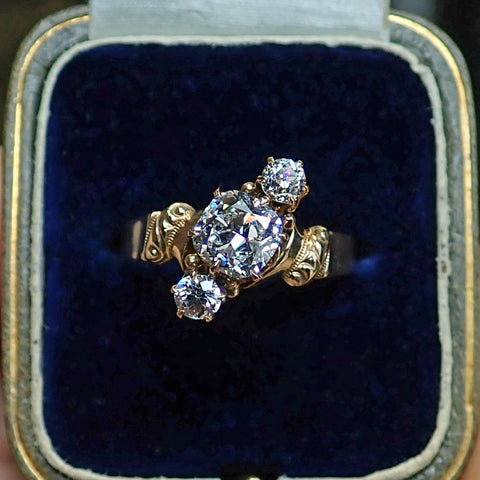 Antique Engagement Ring, Cushion cut 0.90ct. from Doyle & Doyle 107247R