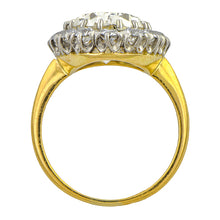 Antique Engagement Ring, Oval cut 5.27ct. J.E. Caldwell, sold by Doyle & Doyle an antique and vintage jewelry boutique.